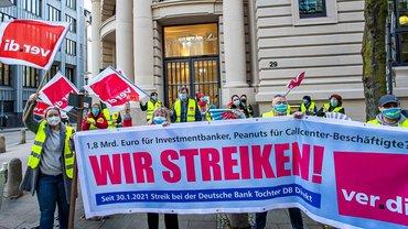 Streik Aktion DB Direkt 2021